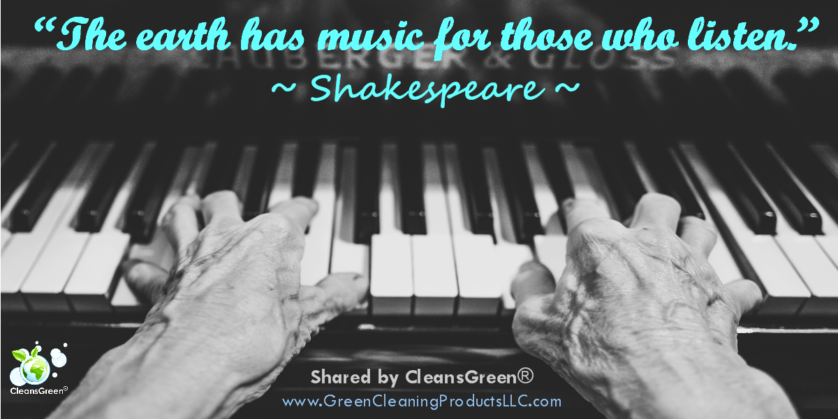 The earth has music for those who listen. - William Shakespeare Quote