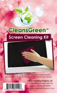 CleansGreen - Screen Cleaning Kit Label