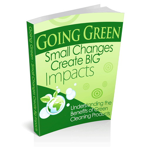 Going Green - Green Cleaning Ebook