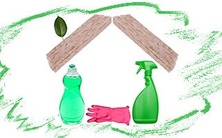 Green Sustainability Strategy in the Home includes Green Cleaning Products
