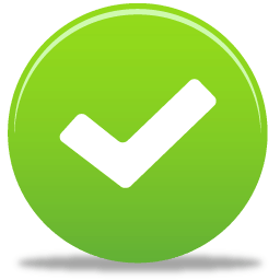 Green cleaning products icon - check