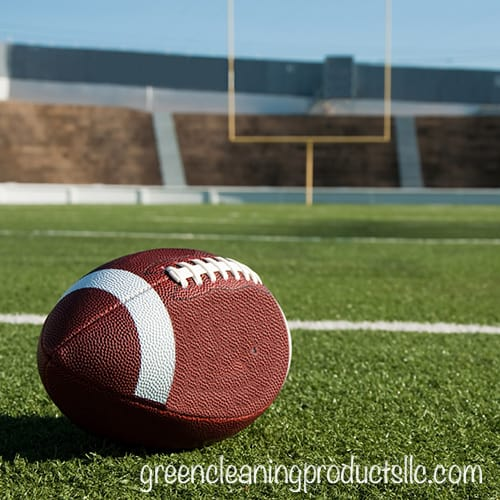 Green Cleaning Products - A fun football checklist