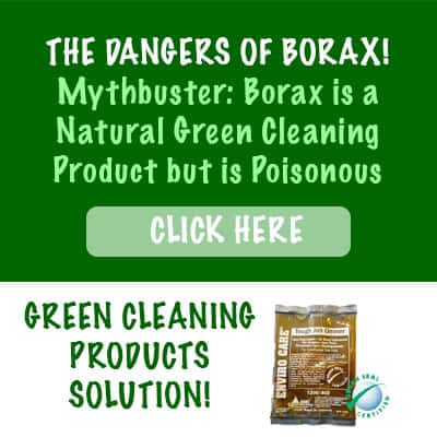 Green cleaning products - dangers of borax