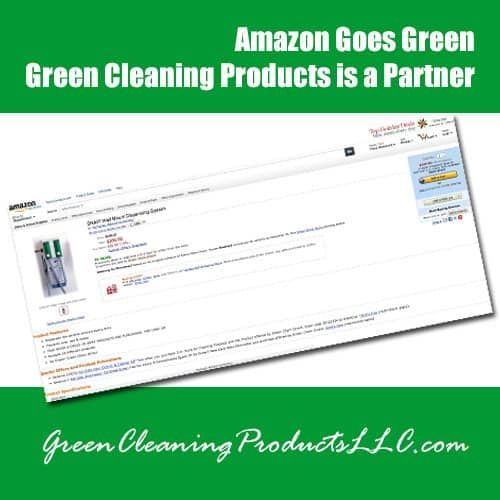 Amazon Goes Green | Green Cleaning Products is a Partner
