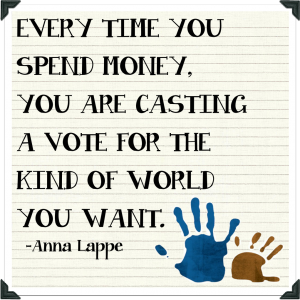 Anna-Lappe-Quote from Green Cleaning Products
