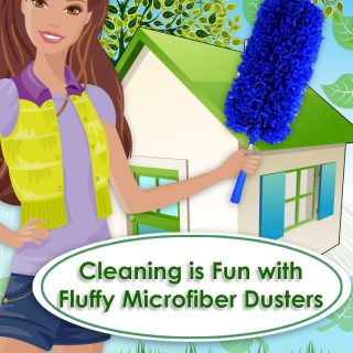 Cleaning is Fun with Fluffy Microfiber Dusters