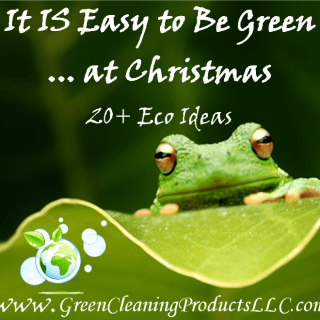 It IS Easy to Be Green with Green Christmas Lights and 20+ Eco Ideas | Shared by Green Cleaning Products