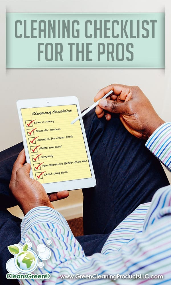 How to Clean Like a Pro | CleansGreen Cleaning Checklist