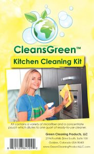 Kitchen Cleaning Kit From Cleans Green | CleansGreen Kit Best for Kitchen (Floor, Cabinets, Stove) and BONUS | For Streak Free Results Use Set with Natural All Purpose Cleaner Refill and Antibacterial Microfiber Cloth EXTRA 3 Reusable Rags