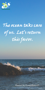 Quote - The ocean takes care of us ..