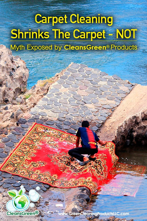 Carpet Cleaning Shrinks the Carpet – NOT... Myth Exposed by Green Cleaning Products | Cleaning is necessary.  Green cleaning is even more critical as we seek to enhance our environment, as well as our health.  To achieve a safe, green clean, however, is oftentimes difficult due to all of the cleaning myths out there.