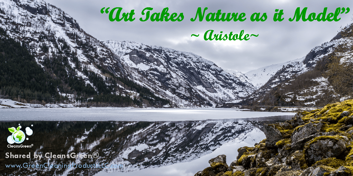 "Aristotle Quote: ""Art takes Nature as It's Model"