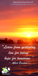 Albert Einstein: Learn from yesterday, live for today, hope for tomorrow