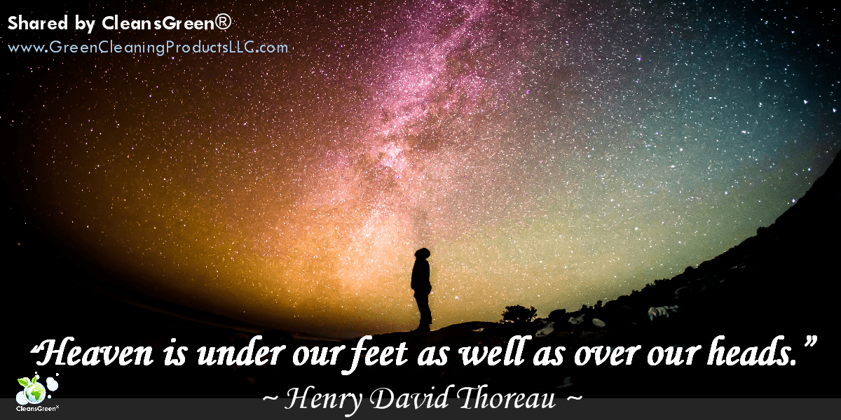 Henry David Thoreau: Heaven is under our feet as well as over our heads