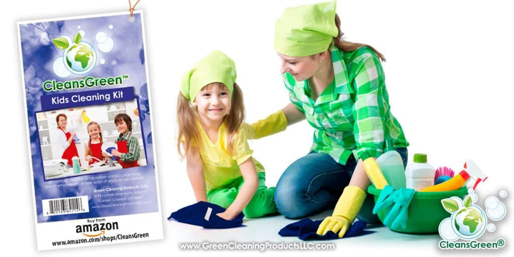 CleansGreen Kids Cleaning Kit from Green Cleaning Products LLC