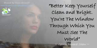Better keep yourself clean and bright. You're the window through which you must see the world. George Bernard Shaw #Quotes