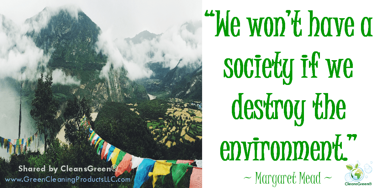 We won't have a society if we destroy the environment... Margaret Mead #Quote