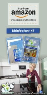 CleansGreen Disinfectant Kit - Reusable Disinfecting Wipes Kit: CleansGreen Microfiber Cloth, Hospital Disinfectant Cleaner|Best as Sanitizer Spray for Baby